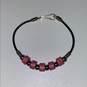 Beaded pink bracelet